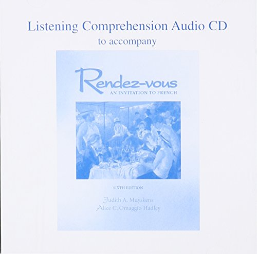 9780072490299: Listening Comprehension Audio CD to accompany Rendez-vous