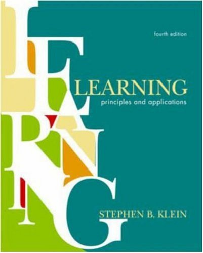9780072490466: Learning: Principles and Applications