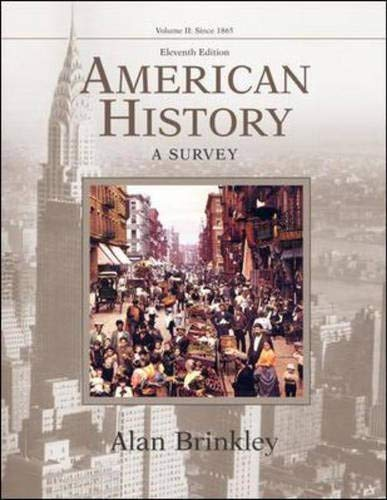9780072490534: American History: A Survey, Volume 2 MP w/PowerWeb