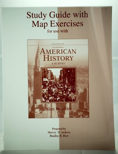 9780072490541: Student Study Guide for use with American History: A Survey Volume 2