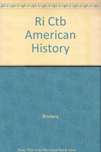 9780072490602: American History (Brinkley): Computerized Test Bank for Windows And MAC