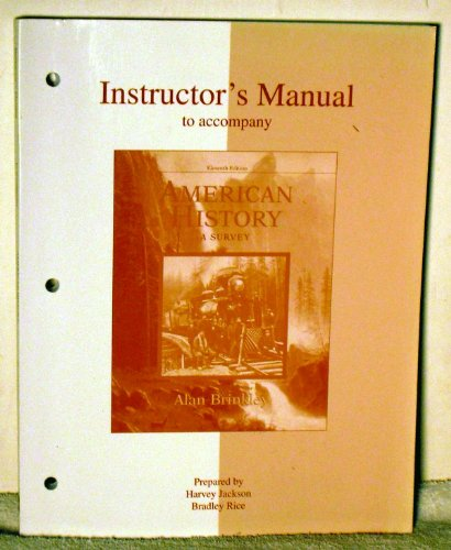9780072490619: Instructor's Manual to Accompany American History, A Survey