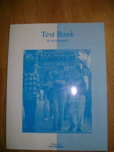 9780072492033: Testbank to Accompany Adolescence