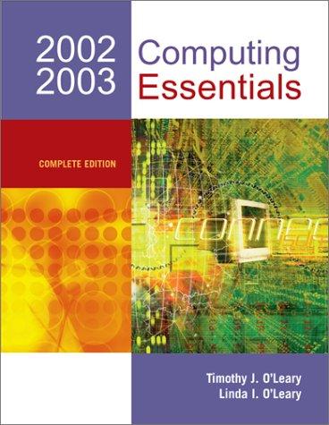 9780072492071: Computing Essentials, 2002-2003 : Complete Edition (Information Technology Ser.)
