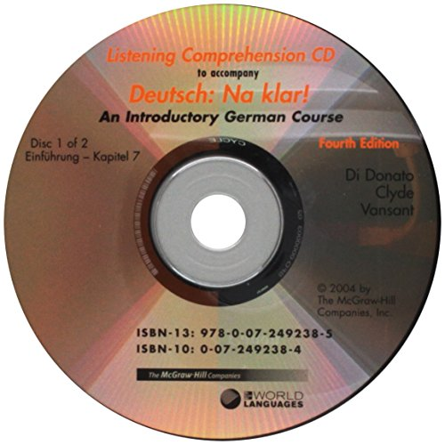 9780072492385: Listening Comprehension Audio CD (Component) to accompany Deutsch: Na klar! An Introductory German Course