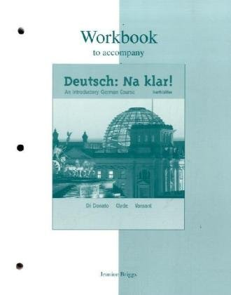 9780072492514: Workbook to accompany Deutsch: Na klar! An Introductory German Course