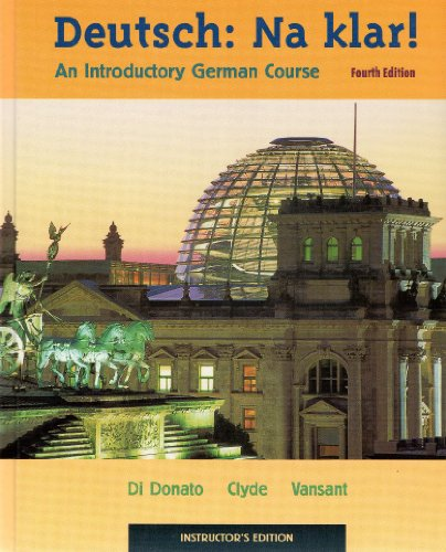 9780072492521: Deutsch: Na Klar! an Introductory German Course: Instructor's Edition