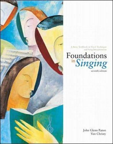 9780072492989: Foundations in Singing