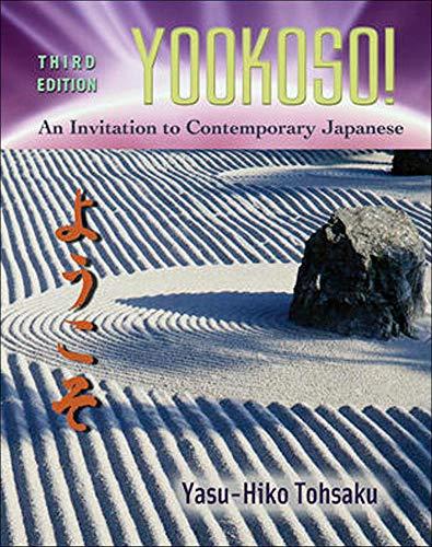 9780072493023: Yookoso!: An Invitation to Contemporary Japanese