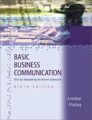 9780072493948: Basic Business Communication: Skills For Empowering The Internet Generation