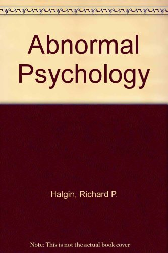 9780072494044: Abnormal Psychology