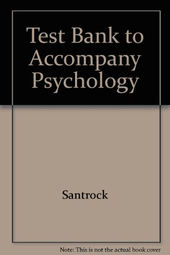 9780072494204: Test Bank to Accompany Psychology