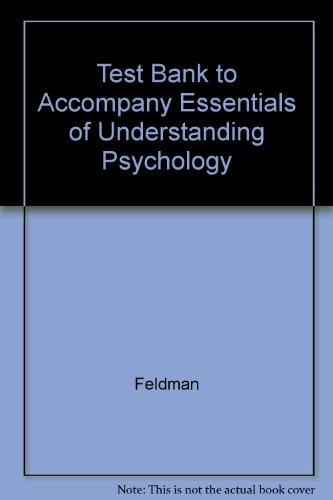 9780072494303: Test Bank to Accompany Essentials of Understanding Psychology