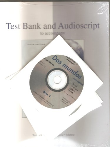 9780072495157: Test Bank and Audio Script to Accompany Dos mundos 5th edition