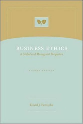 9780072496901: Business Ethics: A Global and Managerial Perspective