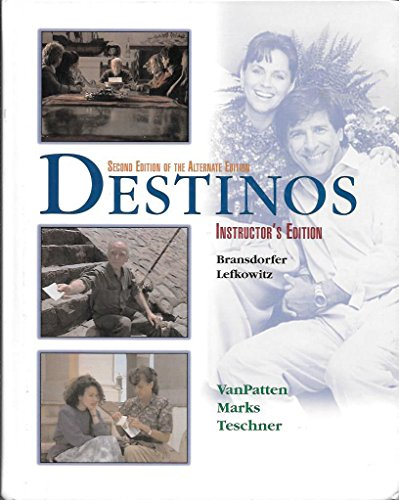 9780072497175: Instructors Edition to Accompany Destinos