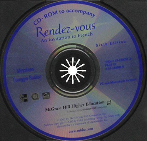 9780072498103: Institutional CD-ROM (Package) to accompany Rendez-vous: An Invitation to French