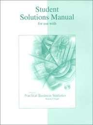 9780072499100: Practical Business Statistics: Student Solutions Manual