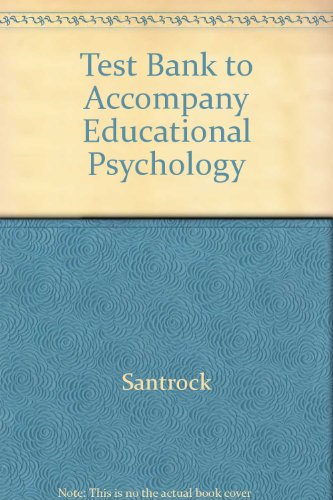 9780072500141: Test Bank to Accompany Educational Psychology