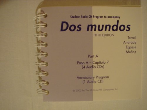 9780072500448: Dos mundos Student Audio CD Program Part A
