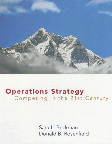 9780072500783: Operations Strategy: Competing in the 21st Century (Operations Series)