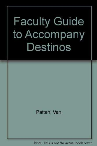 9780072501407: Faculty Guide to Accompany Destinos