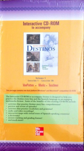 9780072501544: Interactive CD-ROM to accompany Destinos 2nd Ed to the Alternate Edition; Volume 1, Lectures 1-26