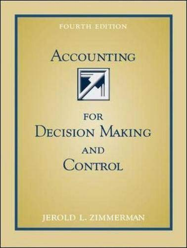 9780072501797: Accounting for Decision Making and Control