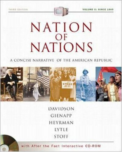 9780072502787: Nation of Nations Concise Volume II with After the Fact Interactive USDA; MP: A Concise Narrative History of the American Republic