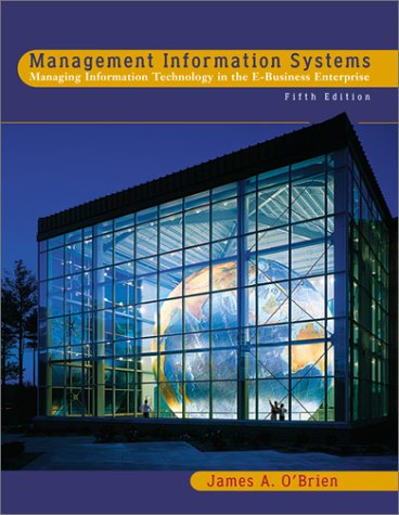 9780072503012: Management Information Systems: Managing Information Technology in the E-business Enterprise