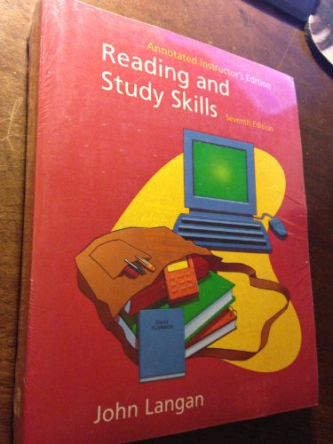 9780072503241: Annotated Instructor's Edition to Accompany Reading and Study Skills (Langan Series)