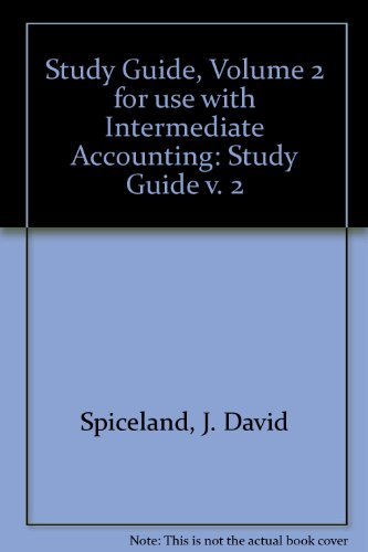 9780072504125: Study Guide, Volume 2 for use with Intermediate Accounting