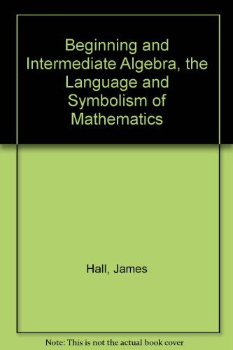 9780072504163: Student's Study Guide for use with Beginning and Intermediate Algebra, The Language and Symbolism of Mathematics