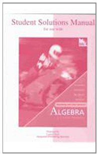 9780072504217: Student's Solutions Manual for use with Beginning and Intermediate Algebra: A Unified Worktext