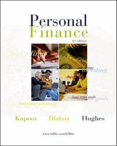9780072504453: Personal Finance w/Student CD ROM & Personal Financial Planner + Student Resource Manual