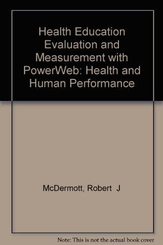 9780072505207: Health Education Evaluation and Measurement with PowerWeb: Health and Human Performance