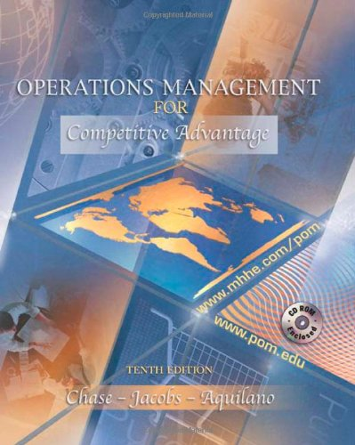 9780072506365: Operations Management for Competitive Advantage (The Mcgraw-Hill/Irwin Series Operations and Decision Sciences)