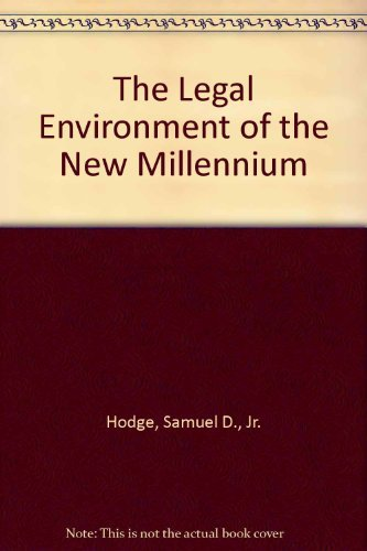 9780072507232: The Legal Environment of the New Millennium