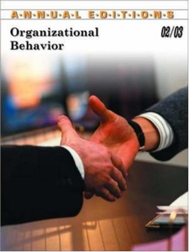 9780072507942: Annual Editions: Organizational Behavior 02/03