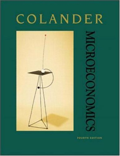 Microeconomics/With Powerweb: COLANDER