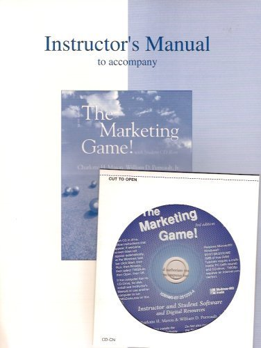 9780072514070: Instructor's Manual to Accompany The Marketing Game (Instructor & Student Software & Digital Resources CD Package)