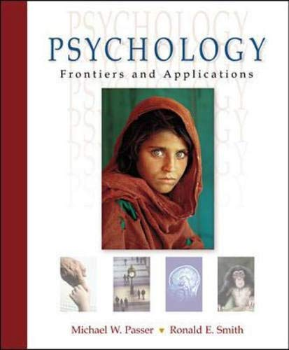 9780072514544: Passer's Psychology: Frontiers and Applications with e-Source and PowerWeb