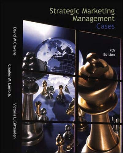 9780072514827: Strategic Marketing Management Cases w/Excel Spreadsheets: With Excel Spreadsheets