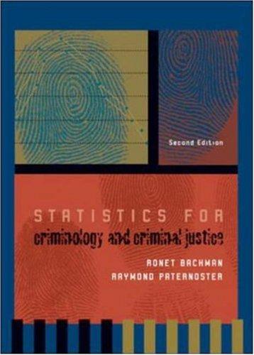 9780072518443: Statistics for Criminology and Criminal Justice