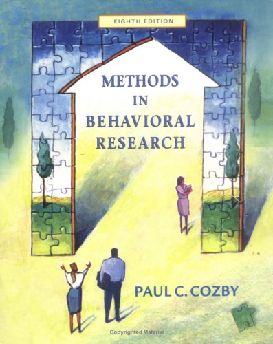 9780072523423: Methods in Behavioral Research