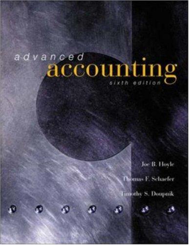 9780072524086: Advanced Accounting, 6th Edition, hc, 2001