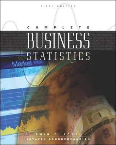 Complete Business Statistics W/CD Mandatory Package: Amir D. Aczel,