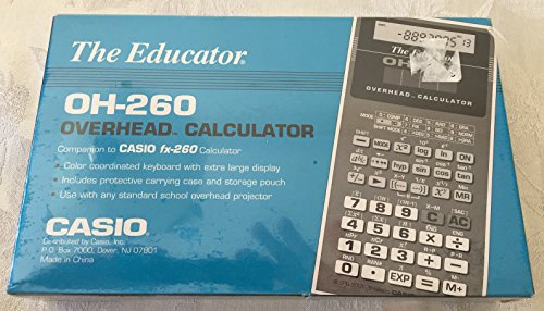9780072525465: Casio OH-260 Overhead Calculator (GED Calculators)