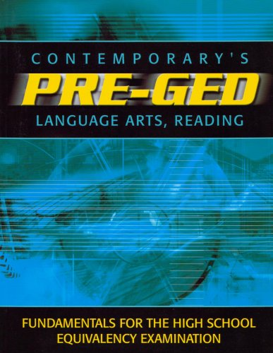 9780072527599: Contemporarys Pre-Ged: Language Arts, Reading (Contemporary's Pre-GED Series)