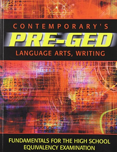 9780072527636: Contemporary's Pre-Ged Language Arts, Writing (Pre-GED Satellite Book)